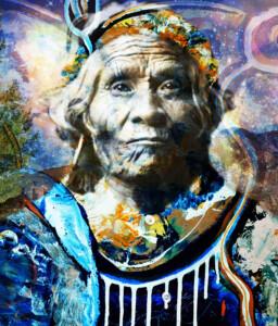 Taos Indian Maricopa Girl - by Giovani Zanolino